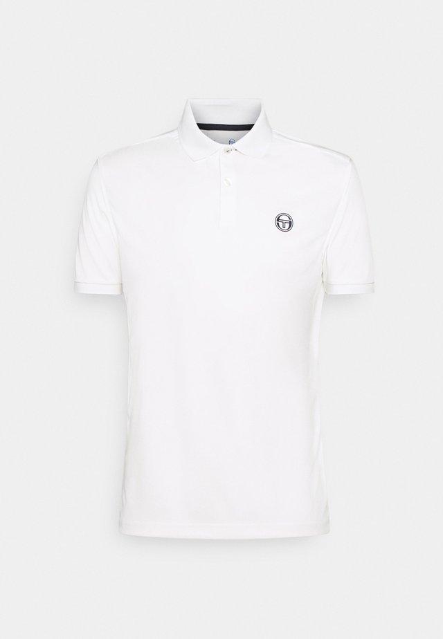 MAN - Polo shirt - blanc de blanc/night sky