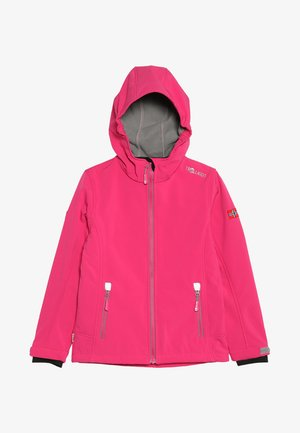 GIRLS TROLLFJORD JACKET - Softshellová bunda - magenta/grey