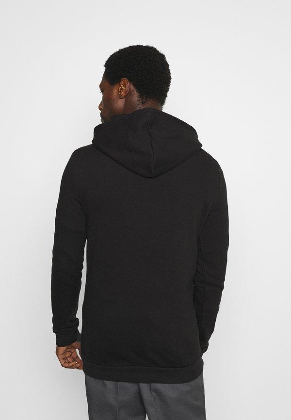 Pier One Bluza z kapturem - black/czarny Odzież Męska ZQOF