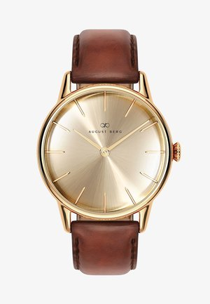 UHR SERENITY SHINE GOLD DARK BROWN LEATHER 32MM - Watch - sunray gold