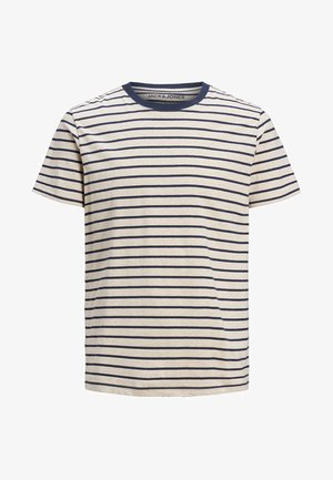 Print T-shirt - white melange