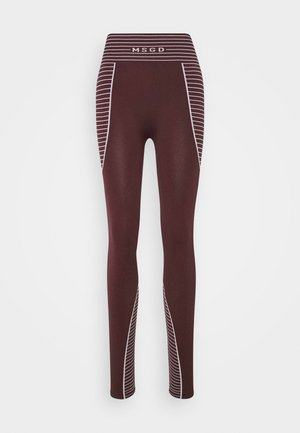 SEAMLESS HIGH WAISTED - Leggings - Trousers - burgundy