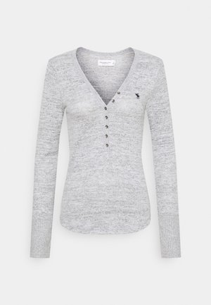 COZY HENLEY  - Long sleeved top - grey