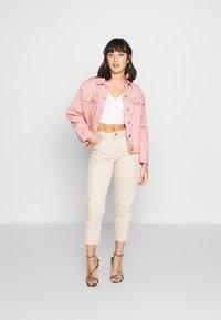 Missguided Petite - OVERSIZED JACKET - Denim jacket - blush - 1