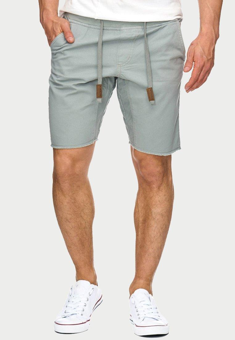 INDICODE JEANS - CARVER - Denim shorts - grey