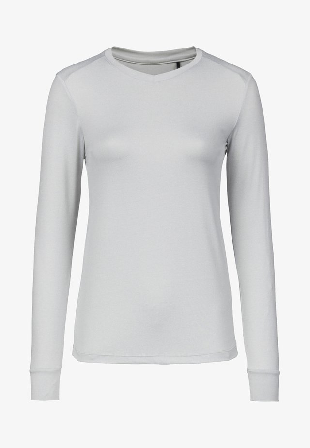 KUSINA - Long sleeved top - light grey