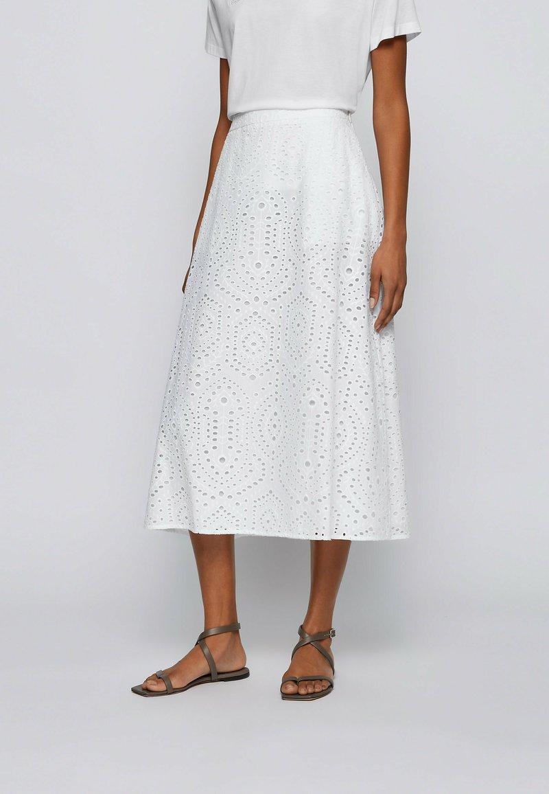 BOSS - VAJOUR - A-line skirt - white