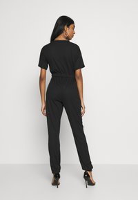 Missguided - WRAP JUMPSUIT - Overal - black - 2
