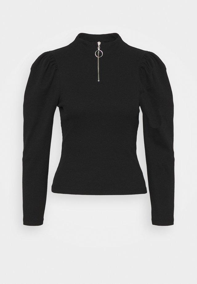 NMZONE PUFF SLEEVE HIGH NECK - Pitkähihainen paita - black