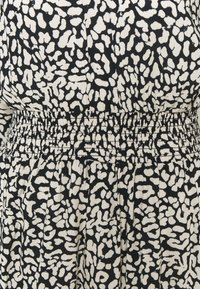 Dorothy Perkins - MONO ANIMAL SHIRRED WAIST MIDI - Day dress - black - 2