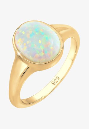 SYNTHETISCHER OPAL - Prsten - gold-coloured