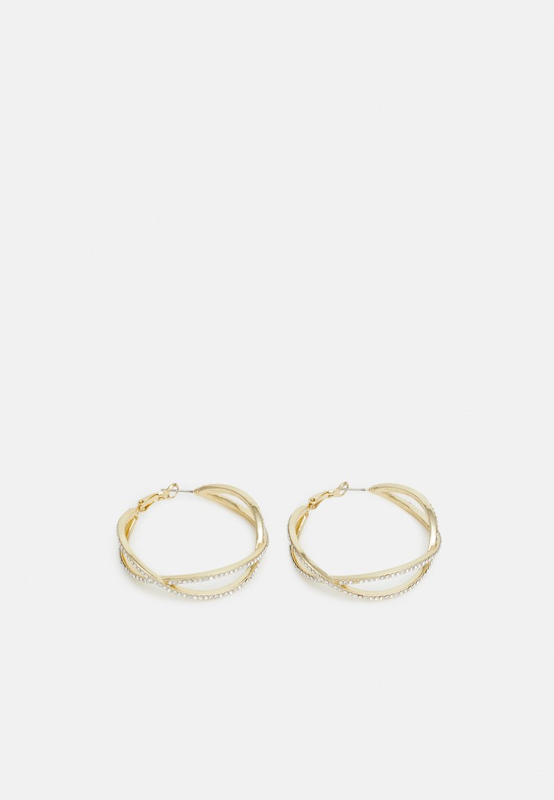 SNÖ of Sweden - FRANCIS BIG OVAL EAR - Earrings - gold-coloured