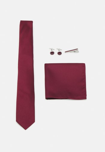 KRAWATTE SET - Kapesník do obleku - bordeaux
