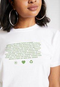 NEW girl ORDER - MANIFESTO - T-shirts print - white - 4