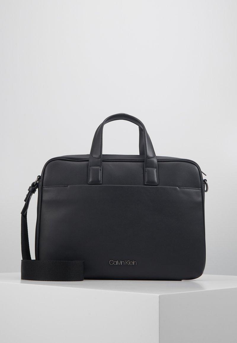 Calvin Klein - CENTRAL LAPTOP BAG - Briefcase - black