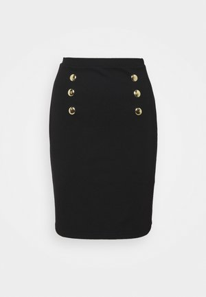 Mini punto smart comfy skirt - Falda de tubo - black