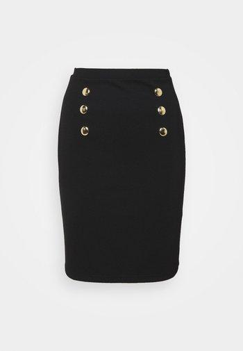 Mini punto smart comfy skirt - Pouzdrová sukně - black