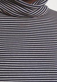 TOM TAILOR DENIM - TURTLE NECK - Long sleeved top - navy/creme - 5