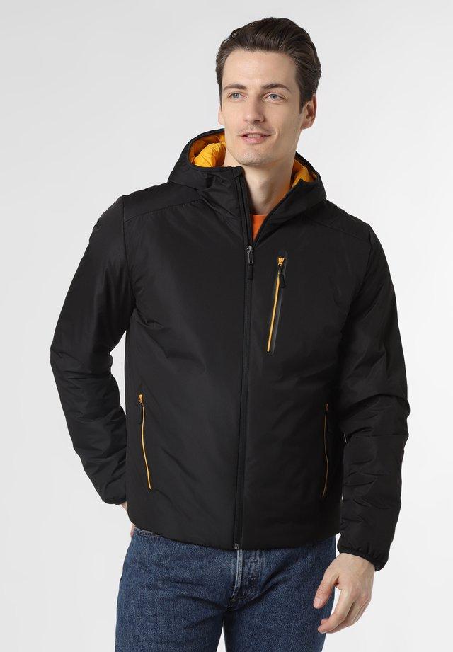 Down jacket - schwarz gelb