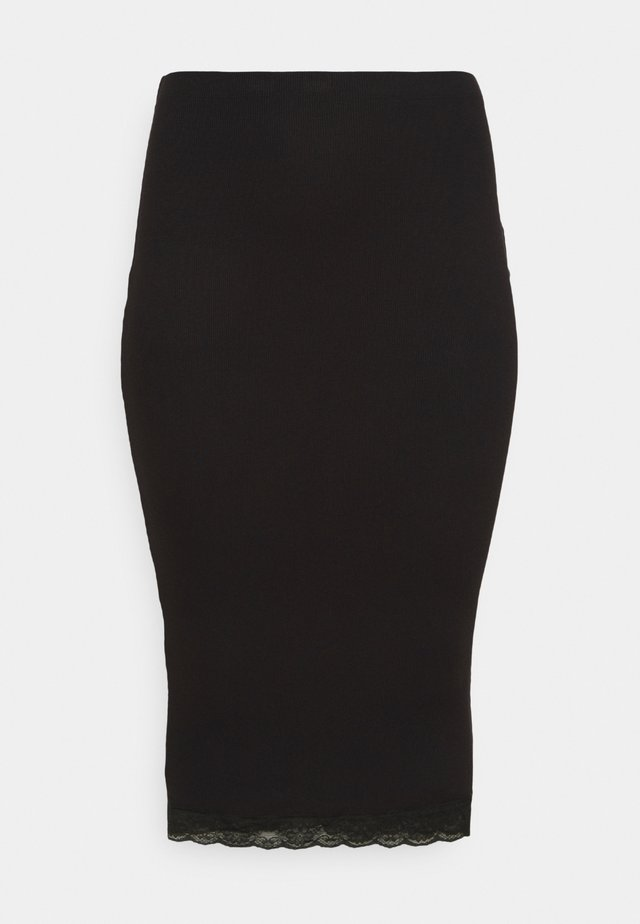 MIDI SKIRT - Gonna a tubino - black