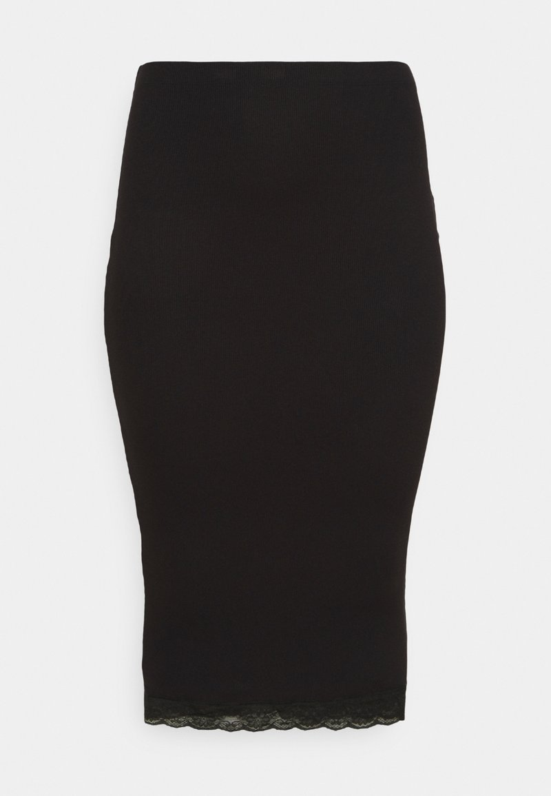 Missguided Plus - MIDI SKIRT - Pencil skirt - black