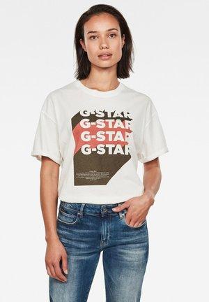 GRAPHIC LOGO LOOSE - T-shirt basic - milk