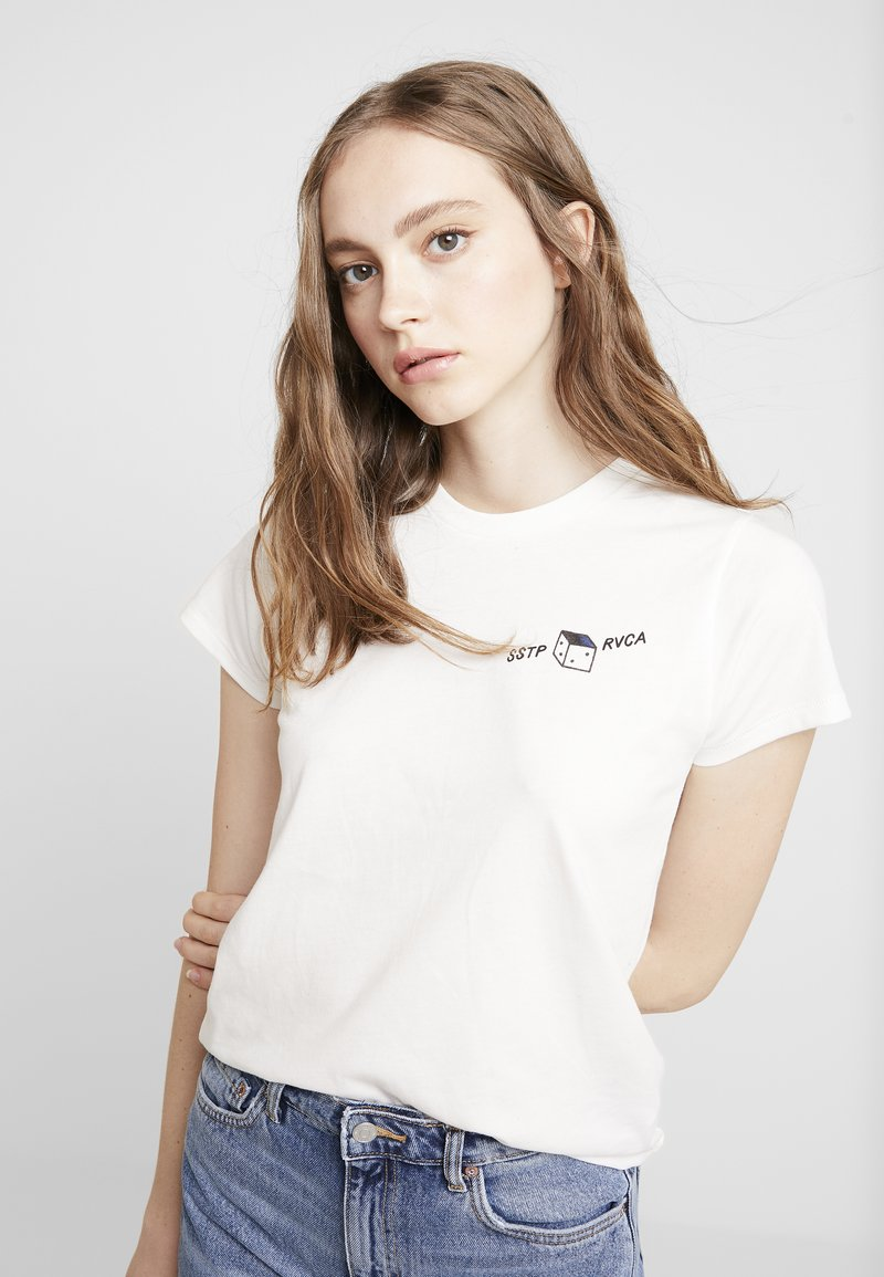 RVCA - SMITH STREET - T-shirt med print - antique white