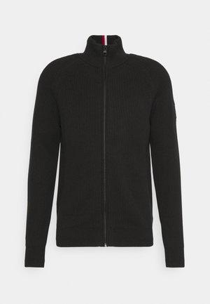CLASSIC ZIP THROUGH - Cardigan - black