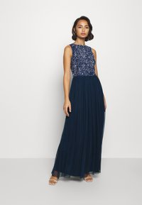 Lace & Beads Petite - PICASSO LEAF MAXI - Iltapuku - navy - 1