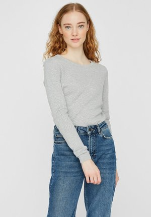 VMMINNIECARE ONECK  - Strickpullover - light grey melange