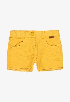 Denim shorts - mustard