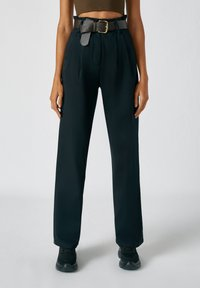PULL&BEAR - Broek - mottled black - 0