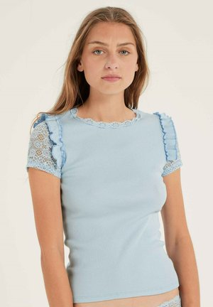 KURZARM COMPOSTABLE - Print T-shirt - tempest blue