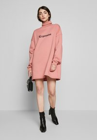 Missguided - HIGH NECK DRESS EXPENSIVE - Day dress - blush - 1