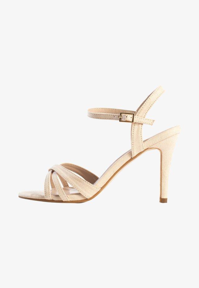 CIARA - Sandalen met hoge hak - nude