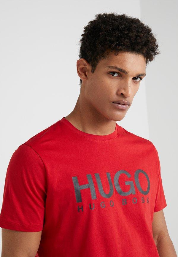 HUGO DOLIVE - T-shirt z nadrukiem - bright red/czerwony Odzież Męska KOFP