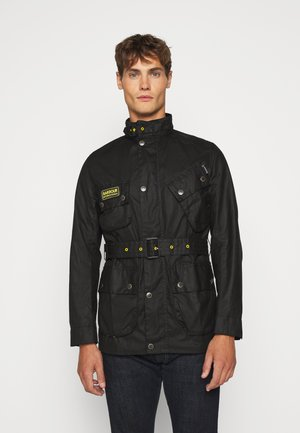 SLIM INTERNATIONAL WAX JACKET - Light jacket - black