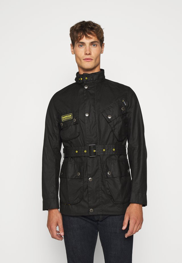 SLIM INTERNATIONAL WAX JACKET - Veste mi-saison - black