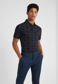 Emporio Armani - Polo shirt - blu navy - 0