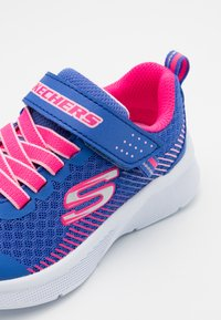 Skechers - MICROSPEC - Trainers - blue/neon coral - 5