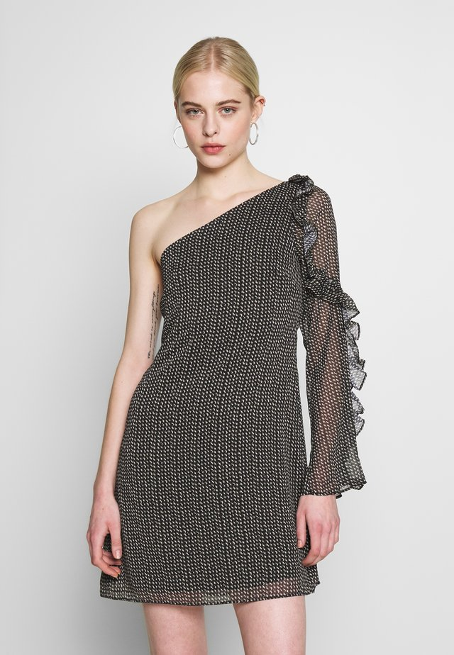 SPECKLE MINI DRESS - Vapaa-ajan mekko - black
