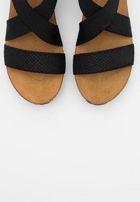 Copenhagen Shoes - STACIA - Sandalias con plataforma - black - 5