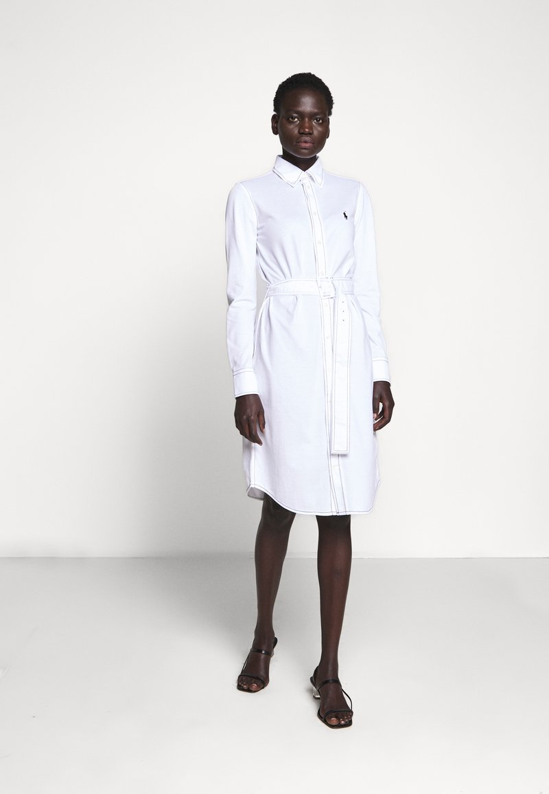 Polo Ralph Lauren - HEIDI LONG SLEEVE CASUAL DRESS - Hverdagskjoler - white