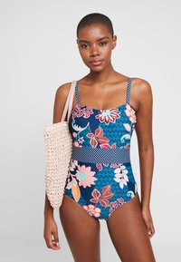 Pour Moi - REEF PRINTED CONTROL SWIMSUIT - Swimsuit - navy - 1