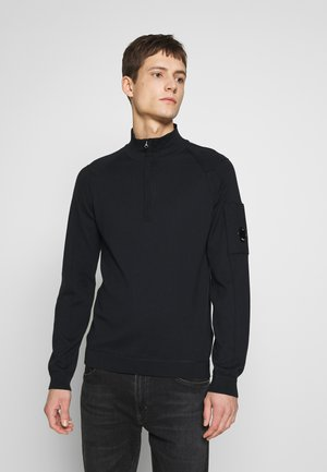 HALF ZIP KNIT - Jumper - navy