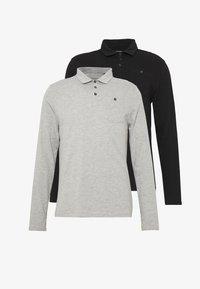 Burton Menswear London - 2PACK - Polo shirt - black/grey - 4