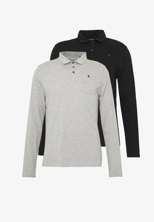 2PACK - Polo shirt - black/grey