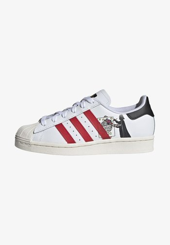 SUPERSTAR SHOES - Trainers - ftwr white/scarlet/chalk white