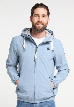 Waterproof jacket - blue melange