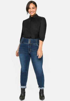 ANNE - Slim fit jeans - dark blue denim